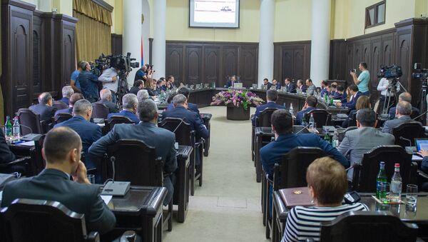 Заседание правительства Армении (1 июня 2018). Еревaн - Sputnik Azərbaycan