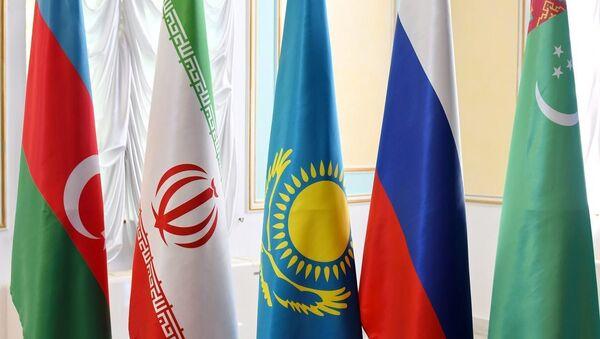 Флаги стран-участниц Каспийского саммита - Sputnik Азербайджан