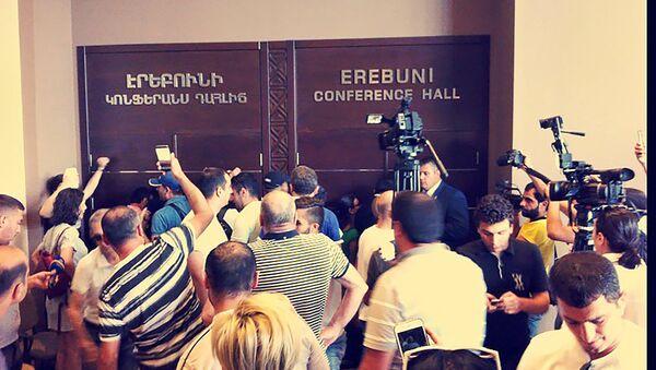 Ситуация около пресс-центра - Sputnik Азербайджан