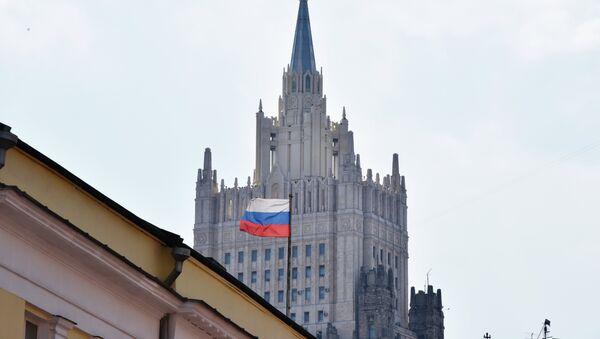 Здание министерства иностранных дел РФ на Смоленской-Сенной площади в Москве - Sputnik Азербайджан