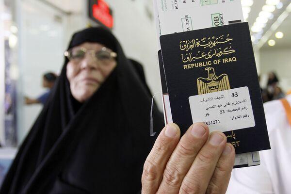 Паспорт паломника из Ирака, направляющегося на хадж в Мекку - Sputnik Азербайджан