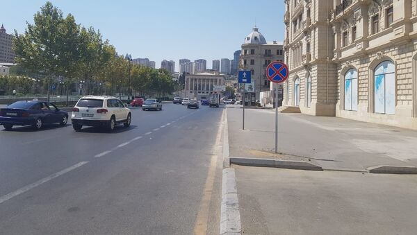 На улице Физули запрещена остановка автомобилей - Sputnik Азербайджан