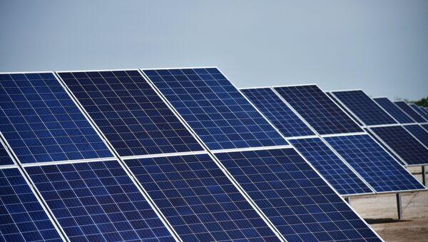 Открытие солнечной электростанции во Львовской области - Sputnik Азербайджан