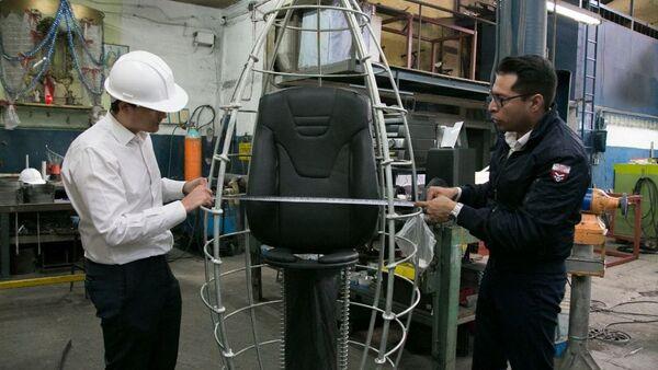 Производственный цех  cпасательной капсулы K107 в Мексике - Sputnik Азербайджан