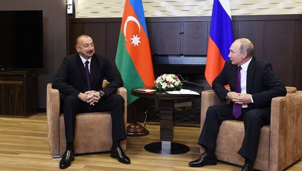 Президенты Азербайджана и РФ Ильхам Алиев и Владимир Путин - Sputnik Азербайджан