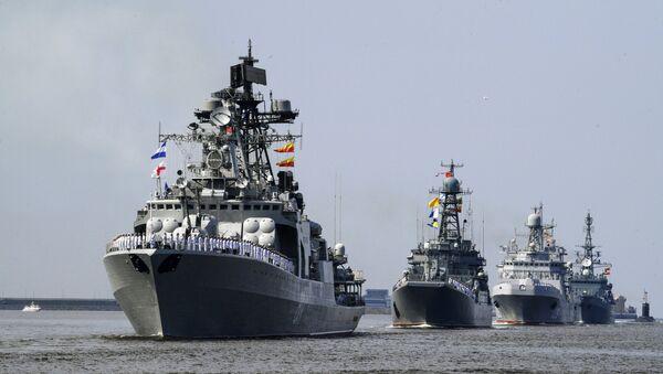 Репетиция парада, посвященного Дню ВМФ России - Sputnik Azərbaycan