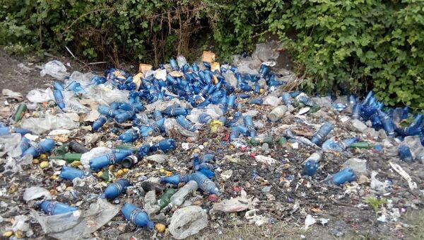 От накопившегося здесь мусора исходит вонь - Sputnik Азербайджан