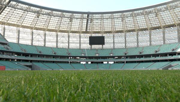 Bakı Olimpiya stadionu dünya səviyyəli matça necə hazırlaşır - Sputnik Azərbaycan