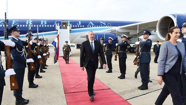 Самолет президента Азербайджана приземлился в Загребе - Sputnik Азербайджан