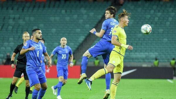 Матч стартового тура группы 3 Дивизиона D Лиги наций по футболу между сборными Азербайджана и Косово. Баку, Олимпийский стадион, 7 сентября 2018 года - Sputnik Азербайджан