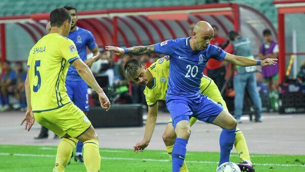 Матч стартового тура группы 3 Дивизиона D Лиги наций по футболу между сборными Азербайджана и Косово. Баку, Олимпийский стадион, 7 сентября 2018 года - Sputnik Azərbaycan