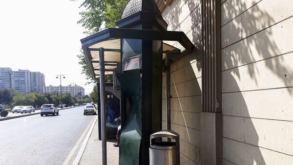 Автобусная остановка в Баку, фото из архива - Sputnik Азербайджан
