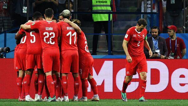 Игроки сборной Швейцарии, фото из архива - Sputnik Азербайджан