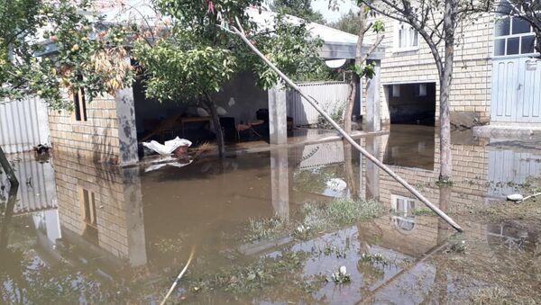 Последствия сильного дождя в Балакене - Sputnik Азербайджан