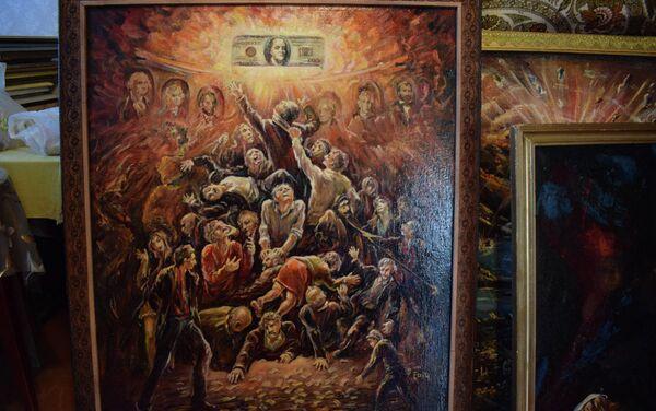 Картина написанная Фаигом Абдуллаевым - Sputnik Азербайджан