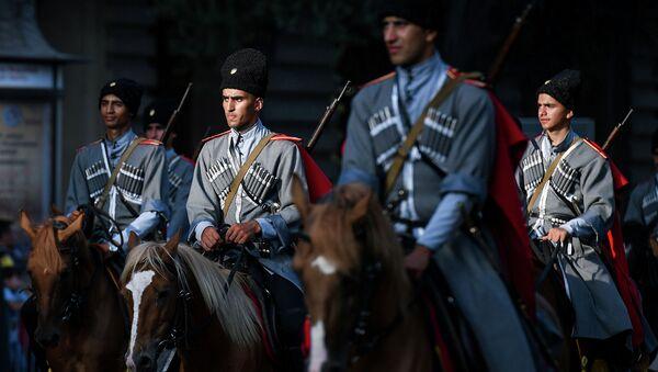 Военный парад по случаю 100-летия освобождения Баку Кавказской исламской армией, фото из архива - Sputnik Азербайджан