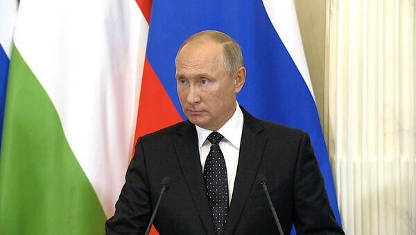 Путин о сбитом в Сирии российском самолете ИЛ-20 - Sputnik Азербайджан