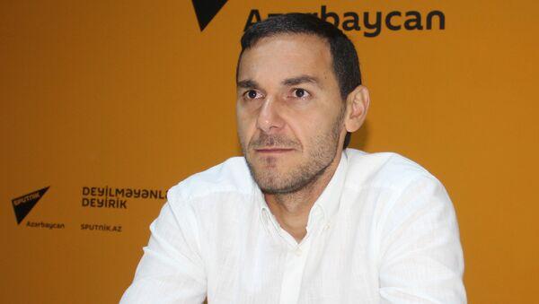 Вратарь национальной сборной Азербайджана по футболу Кямран Агаев - Sputnik Азербайджан