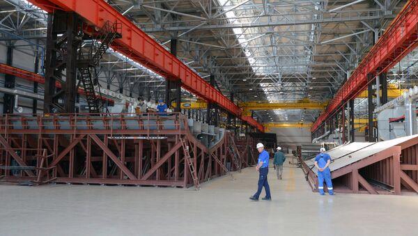 На судостроительном заводе, фото из архива - Sputnik Азербайджан