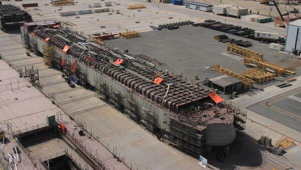 Бакинский судостроительный завод Baku Shipyard, фото из архива - Sputnik Азербайджан