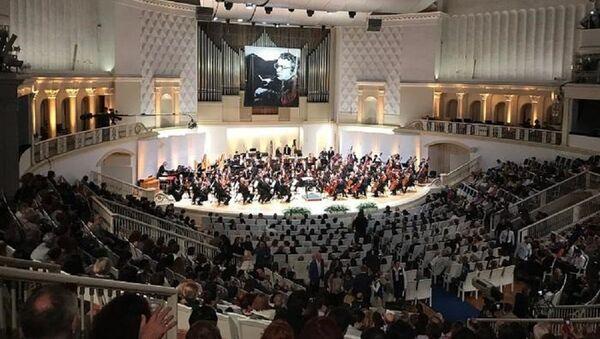В Москве прошел торжественный вечер в честь 100-летия Гара Гараева - Sputnik Azərbaycan