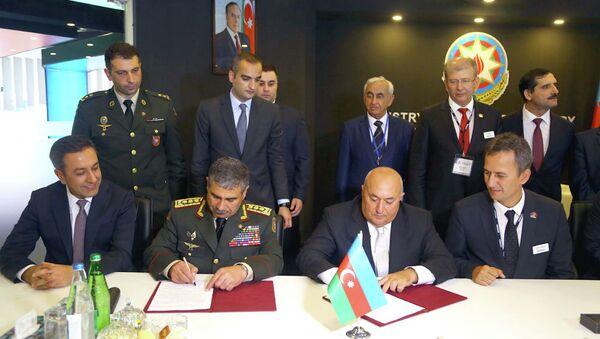 Подписание меморандума между Министерством Обороны и Министерством Оборонной Промышленности Азербайджана - Sputnik Азербайджан
