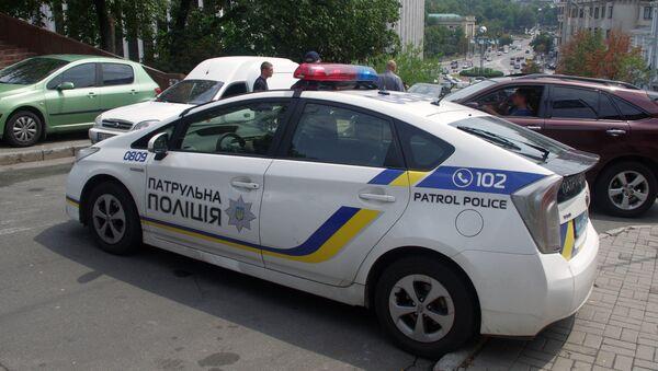 Автомобиль украинской полиции, фото из архива - Sputnik Азербайджан