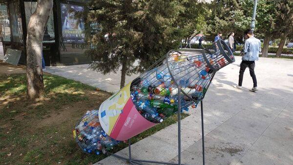 Plastik tullantılar üçün qab - Sputnik Azərbaycan
