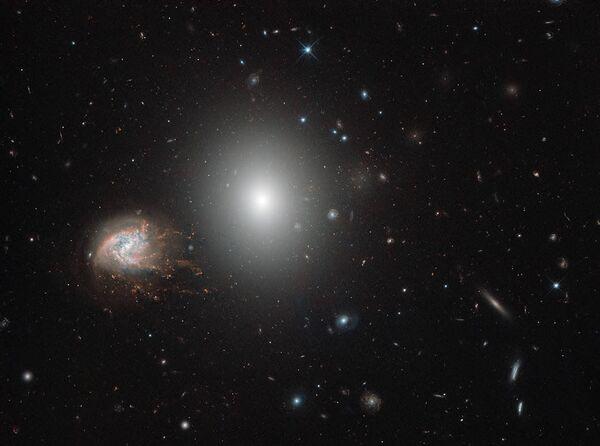 Спиральная галактика NGC 4858 - Sputnik Азербайджан