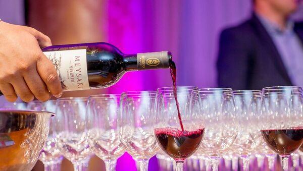 Презентация вин марки Мейсари в азербайджанском павильоне Милан Экспо 2015 - Sputnik Азербайджан