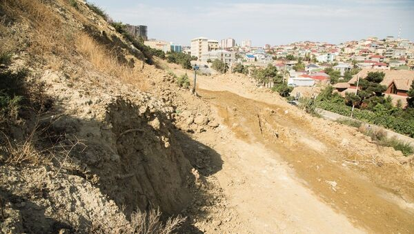 Оползень в Бадамдаре, фото из архива - Sputnik Азербайджан