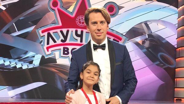 Российский ведущий Максим Галкин и Элина Мамедова - Sputnik Азербайджан