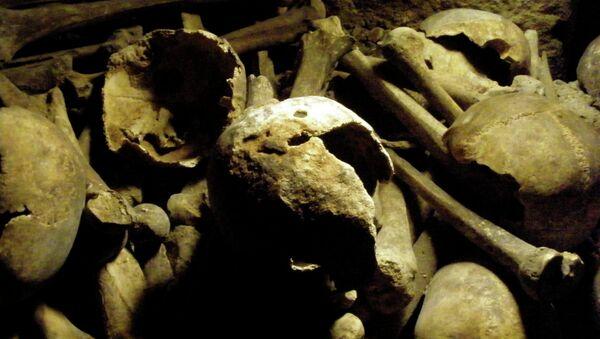 Человеческие останки, фото из архива - Sputnik Азербайджан