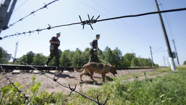 Граница, фото из архива - Sputnik Азербайджан
