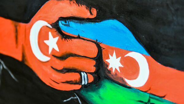 Qafqaz İslam Ordusunun və Bakının işğaldan qurtulmasının 100 illiyinə həsr olunmuş rəsm sərgisi - Sputnik Azərbaycan