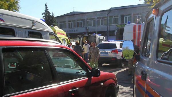 Стрельба в политехническом колледже в Керчи - Sputnik Азербайджан