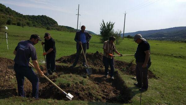 Qusar rayonu ərazisində arxeoloji qazıntılar - Sputnik Azərbaycan