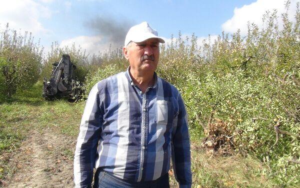 Житель села Арзу Хачмазского района Назим Мамедов - Sputnik Азербайджан