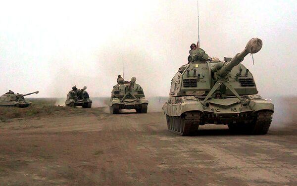 Учения ракетных и артиллерийских соединений ВС Азербайджана - Sputnik Азербайджан