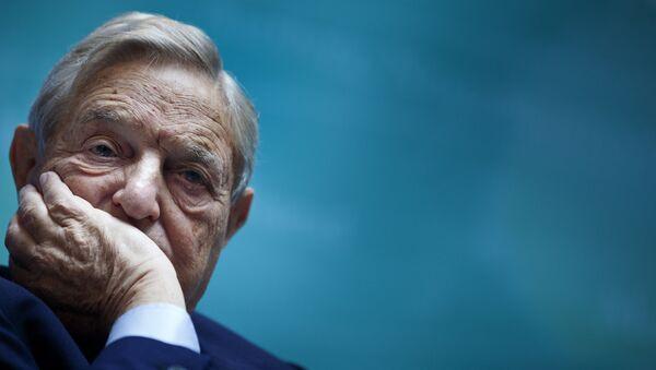 Американский миллиардер Джордж Сорос - Sputnik Azərbaycan