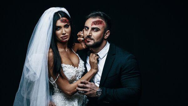 Джейхун Велиев и Турана Рич предстали в образе невесты и жениха из знаменитого американского мультфильма Труп невесты - Sputnik Азербайджан