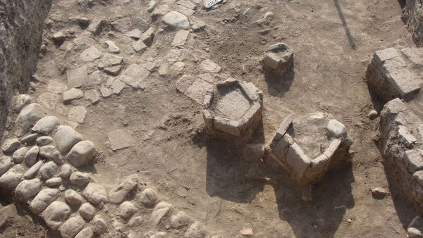 Раскопки на территории Исторического заповедника Город Шабран - Sputnik Азербайджан