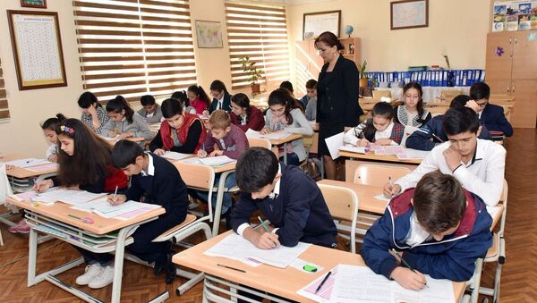 Учебный процесс в одной из бакинских школ - Sputnik Azərbaycan