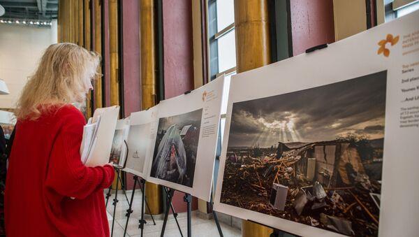 Выставка лауреатов конкурса им. Стенина-2018 в штаб-квартире ООН - Sputnik Азербайджан