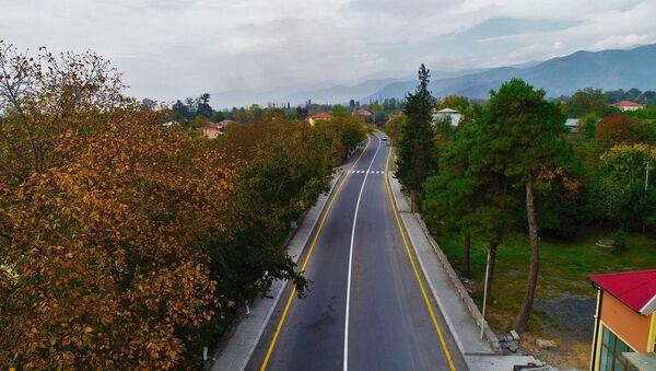 Дорога Гораган-Гах-Загатала после реконструкции  - Sputnik Азербайджан