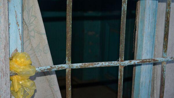 Старая оконная решетка, фото из архива - Sputnik Азербайджан