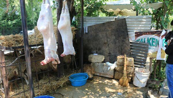 Незаконный забой скота в Баку - Sputnik Азербайджан
