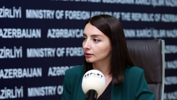 Глава пресс-службы МИД АР Лейла Абдуллаева - Sputnik Азербайджан