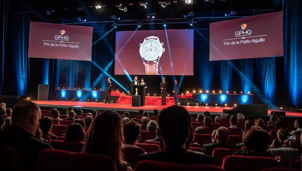 Церемония награждения победителей Grand Prix d'Horlogerie de Genève - Sputnik Азербайджан