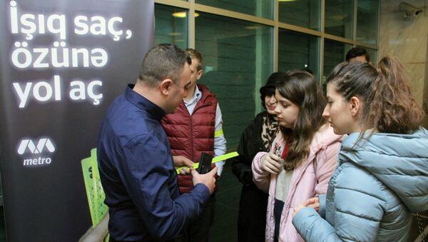 Акция по безопасности пассажиров - Sputnik Азербайджан